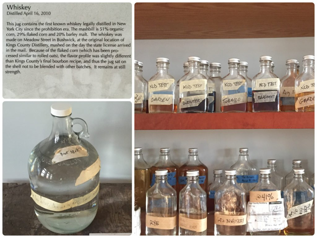 A selection of items in the Boozeum at Kings County Distillery