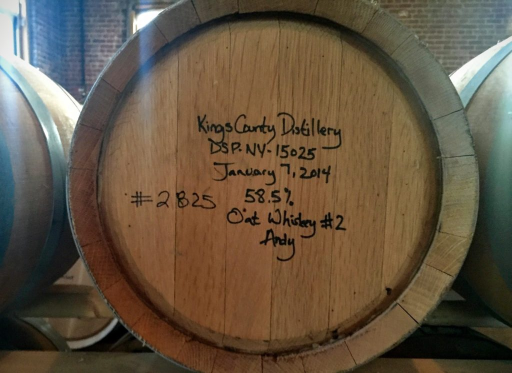 A barrel from January 2014 aging away...
