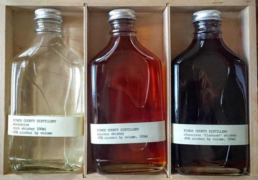 Sampler pack of Moonshine, Bourbon Whiskey and Chocolate Whiskey