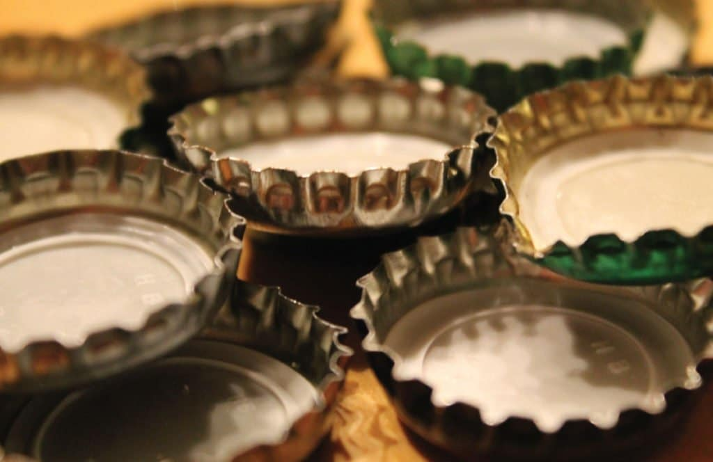 Discarded beer caps - Another craft alcohol trend