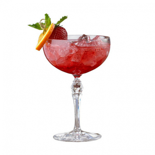 Coupe Glass with a festive cocktail