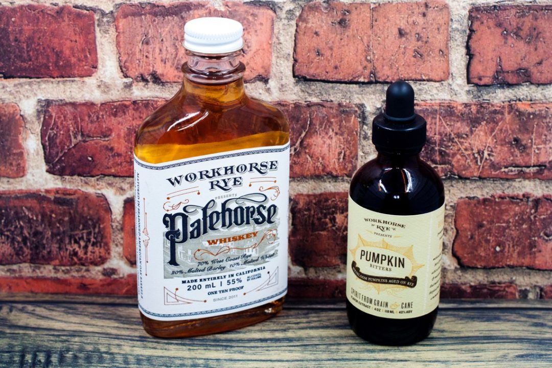 Workhorse rye and pumpkin bitters...the two key ingredients!