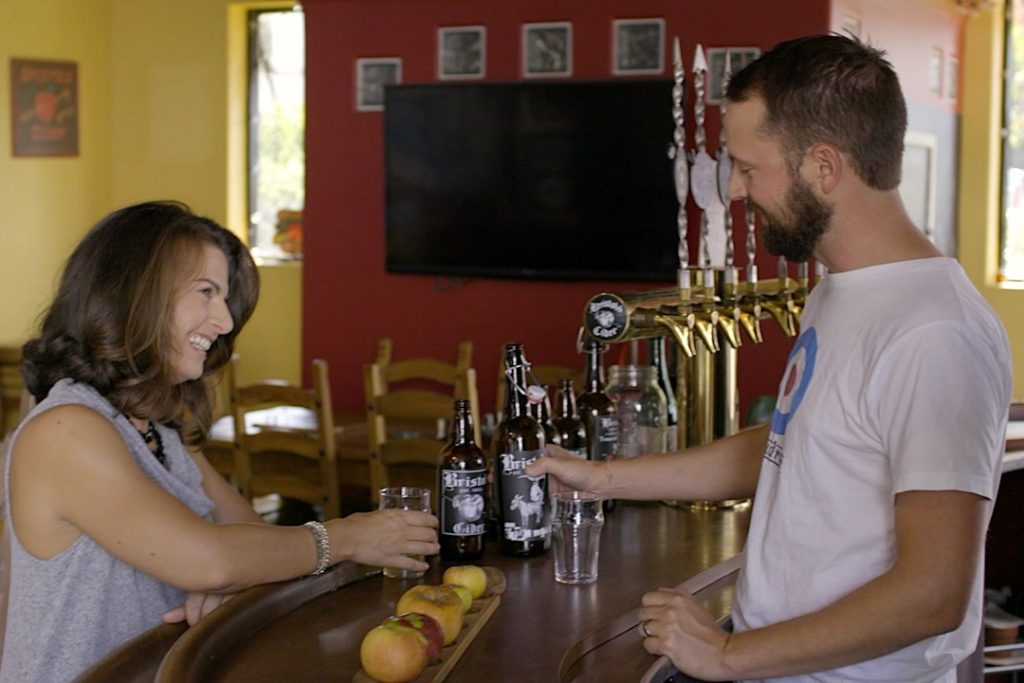Video Clip from Bristol's Cider House - Erich & Suzanne at the bar