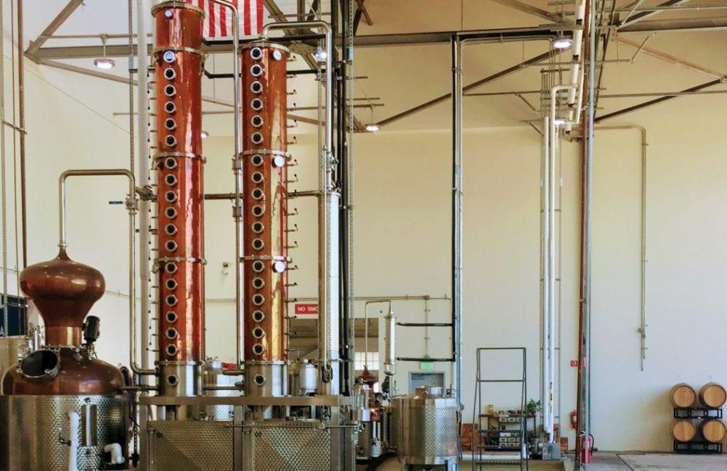 Column Stills for Spirits Distillation at a Distillery