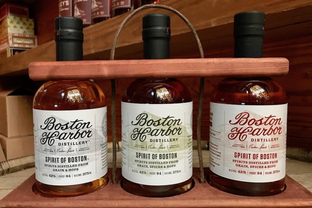 Lineup of 3 Spirit of Boston Whiskies