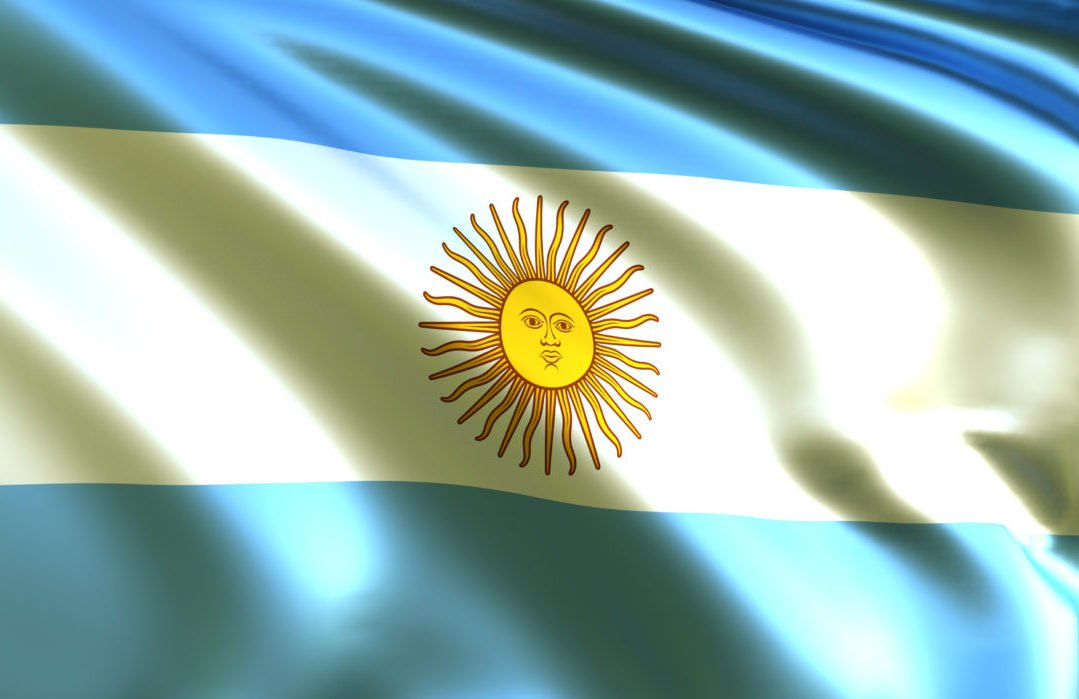 Flag of Argentina Overcast with Shadows