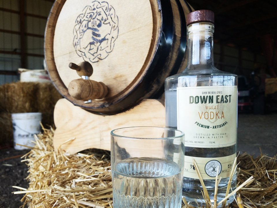 Down East Wheat Vodka On Bale