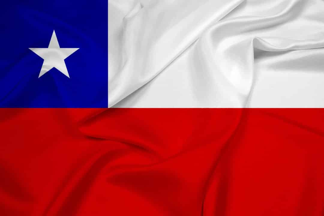 Waving Chile Flag - home of pisco