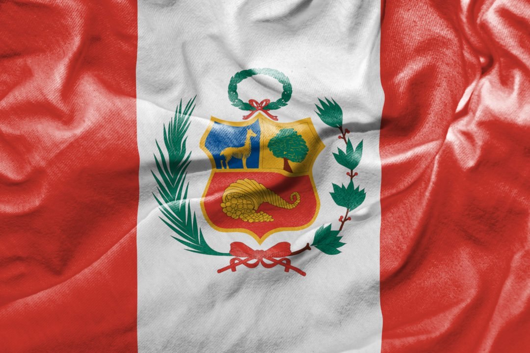 Waving Flag of Peru - home of pisco