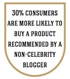 30% of consumers are more likely to buy a product recommended by a non-celebrity blogger