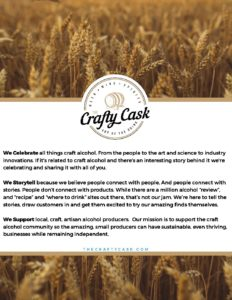 Work With The Crafty Cask