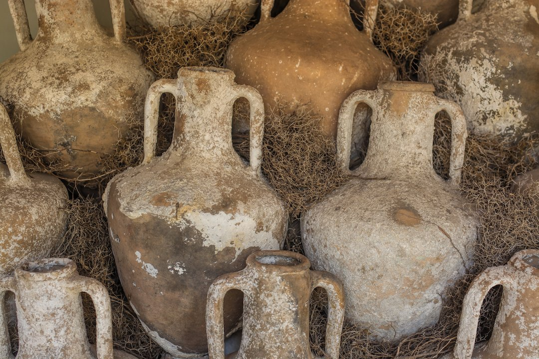 old clay jugs