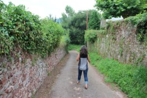 Suz walking in Asturias