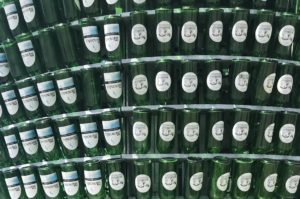 Sidra Natural Bottles - upside down and empty