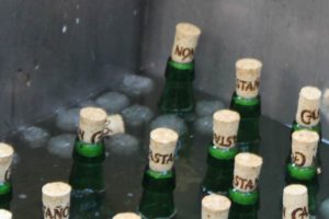 Sidra Natural Bottles with corks partially removed