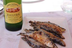 Sidra and Sardines….the perfect pair