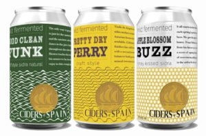 Line up of Ciders of Spain New Cans