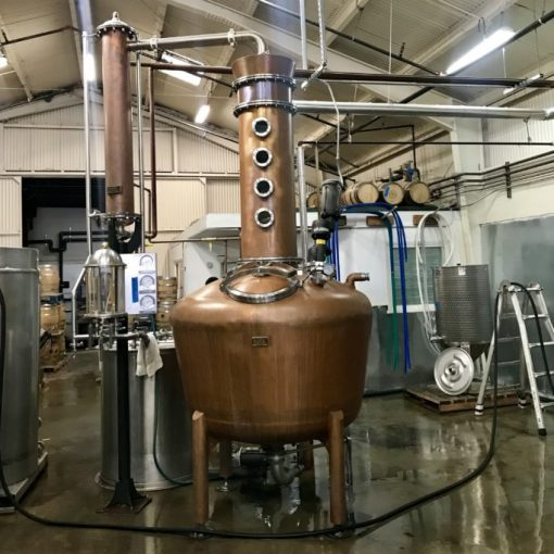 The still at Wright & Brown Distilling Company