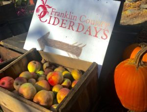 Franklin County Cider Days Sign