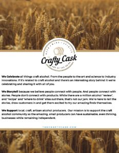 The Crafty Cask_Work With Us