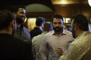 Guest mingling with the makers
