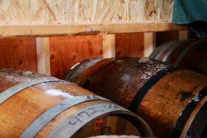 Frozen barrels in the Eis Barn