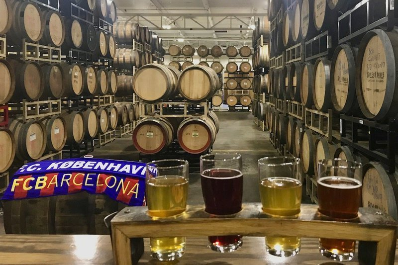 Springdale Brewery Barrel Room