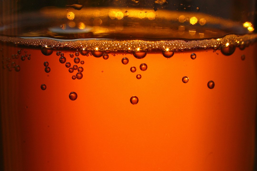 Honey-based mead in process