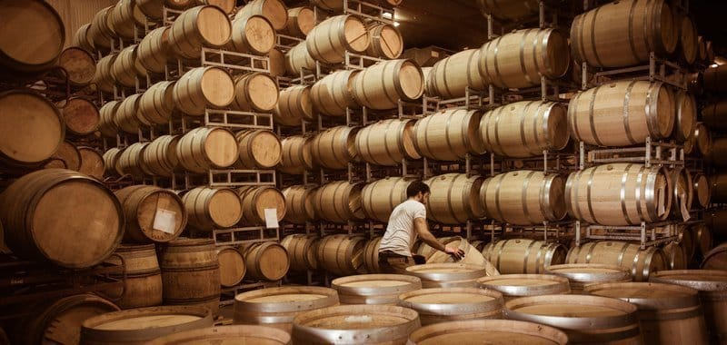how wine is made - barrel aging