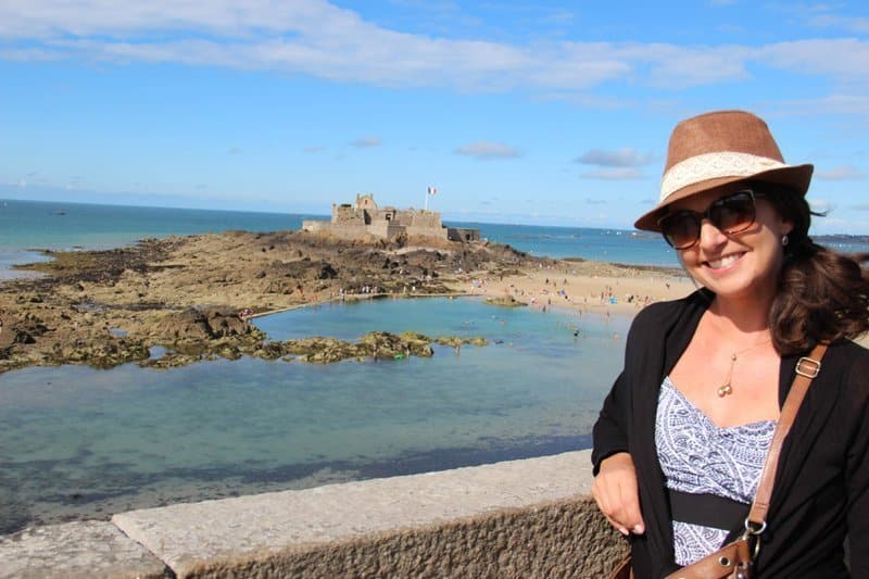 Suzanne in Saint Malo where she first discovered Rhum Arrangè