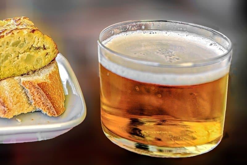 basque cider with tortilla espanola