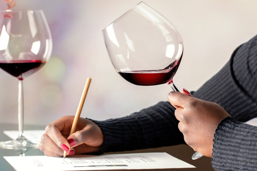 virtual events picture of a virtual wine tasting class