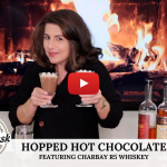 Hopped Whiskey Hot Chocolate with Charbay Whiskey