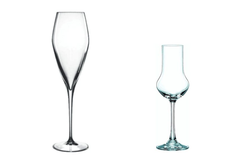 Champagne & Dessert Wine Glass Shapes
