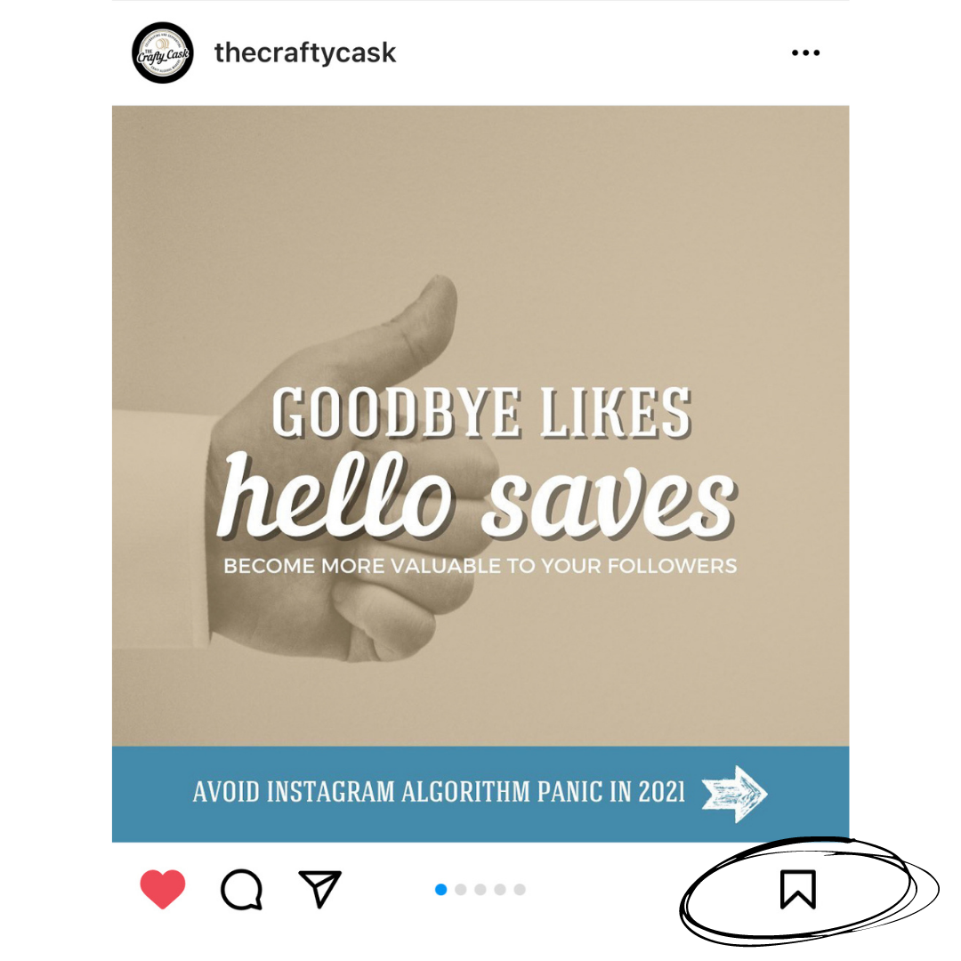 Creating saveable content is critical for the Instagram algorithm