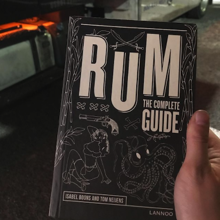 Mel studying up on Rum