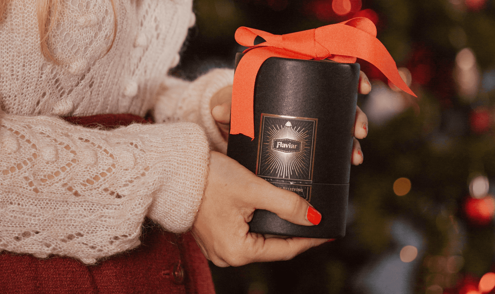 Gift wrapped Flaviar tasting kit