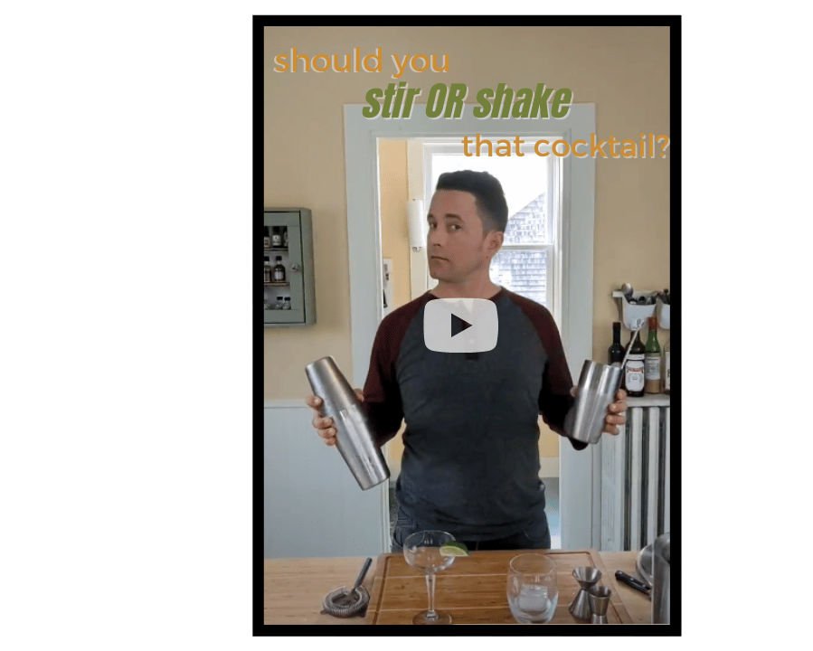 Video cover about should I shake or stir the best manhattan recipe?